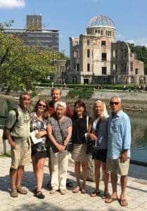 My family with the A-Bomb Dome in the background